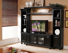 Black Finish Entertainment Center