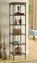 6-Tier Slender Metal Book Case