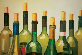 Wine Bottles Oil Canvas Paining