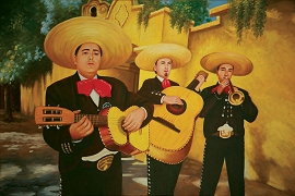 Mariachi Oil Painting on Canvas