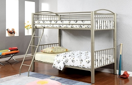 Twin/Twin Durable Metal Bunk Bed