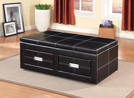 Espresso Finish Lift-Top Ottoman