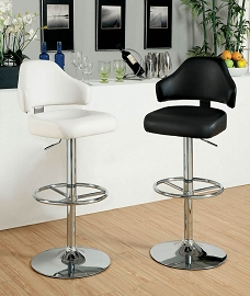 Black or White Swivel Barstool