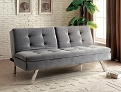 Valier Light Gray Futon Sofa