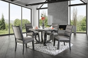 Isabelle Formal Dining Room Set in Antique Gray