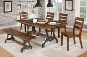 Industrial  Brown Cherry 6 Pcs Table Set