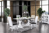 Transitional Style Kathleen Dining Table Set