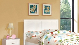 Twin White Headboard