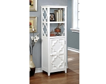 Living Room Evelyn White Display Cabinet