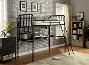 Ebony Workstation Bunk Bed