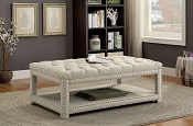 Transitional Style Beige Bench- 2 sizes availabe