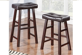 Dark Cherry Finish Stool