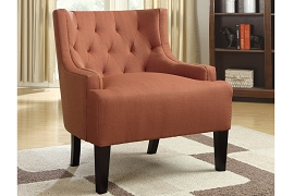Upholstered Canyon Red Accent Chair