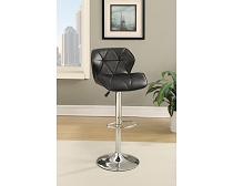 2 Pcs  Leatherette Bar Stool Set. Black or Brown