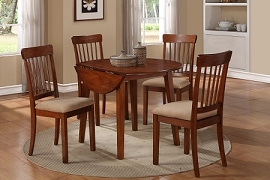 5 Piece Traditional Circle Table Set