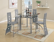 5 Pcs Metal Counter Height Dining
