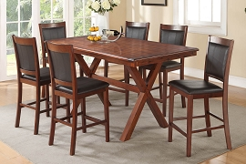 7 Piece Cherry finish Counter Height Dining Set