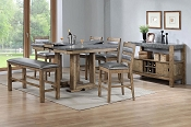 6 Pcs Counter Height Wooden Dining Set