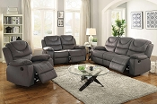 Grey Motion Recliner Sofa