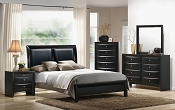 4 Pcs Black Bedroom Set
