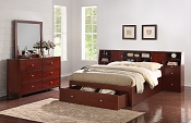 Bed Frame with Large Footboard Drawer