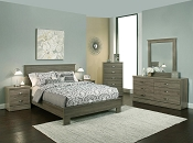 Ash Grey Aspen Collection Queen Bed Frame