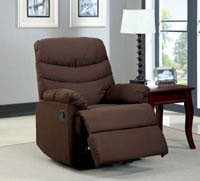 Brown Suede Recliner