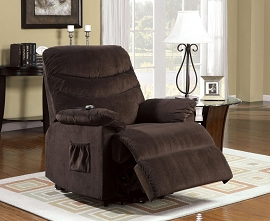 Stand Power Lift Brown Recliner