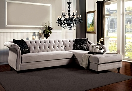 2 Pcs Grey Sectional