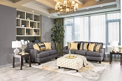 2 Pcs Contemporary Style Sofa Set