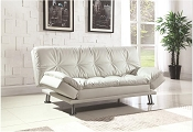 White Leather Sorfa Bed