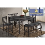 BETTY TRANSITIONAL COUNTER HEIGHT SET/ 6 pcs set