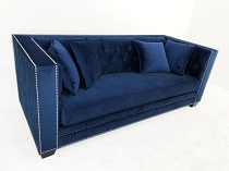 Brick Collection Sofa  Navy Blue Cloud