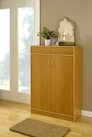 Isotta Golden Beech Wood Shoe Cabinet