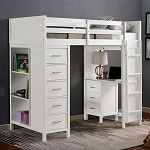 CASSIDY TWIN LOFT BED (OUT OF STOCK (ETA:2020-11-29)