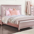 Ariston Pink Bed Frame with Tufted Diamond Buttons