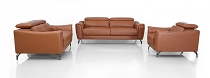 Divani Casa Danis - Modern Cognac Leather Brown Sofa Set