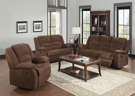 BAILEY Dark Brown Chenille Motion Sofa Set
