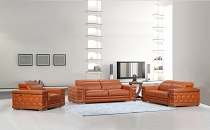 692 - 3 pcs Camel Sofa Set