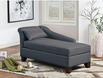 Chaise Lounge with storage - color option