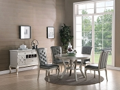 5-Pc Antique Silver Dining Set