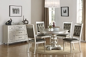 5-Pc Silver Finish Dining Set