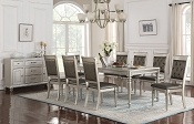 7-Pc Silver Finish Dining Set
