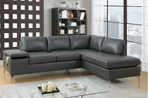 Grey 2 Pcs Breatheable Sectional