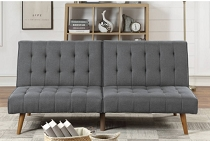 Blue Grey Linen Adjustable Sofa