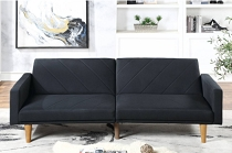 Black  Linen Adjustable Sofa