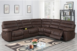 Dark Coffee or Dark Grey Power Motion Sectional