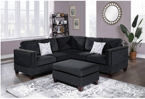 3-PC SECTIONAL W/2 ACCENT PILLOW (OTTOMAN INCLUDED) (ETA in 10 days of	2020-10-19 (COPY)