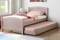 Rose Gold Twin Bed with Trundle