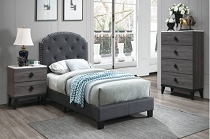 Charcoal Tufted Bed Frame
